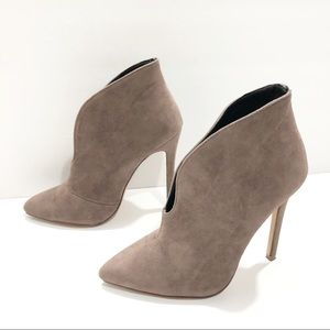 Forever 21 Cut Out Heeled Booties